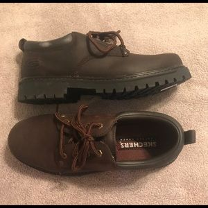 GUC - Sketchers Brown Leather Tom Cats - 9.5